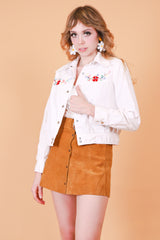 Vintage 1970's White Rabbit Embroidered Jacket