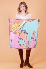 Vintage 1970's Maxwell's Silver Hammer Peter Max Scarf