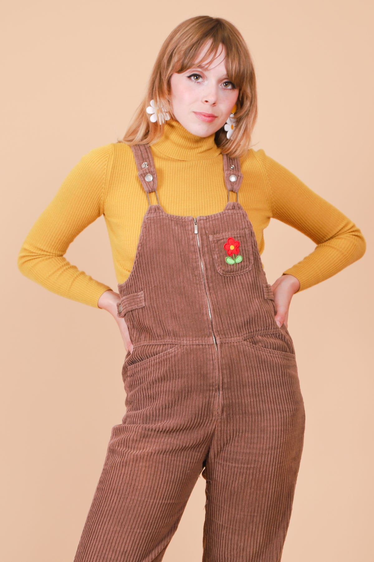 Vintage 1990's Flower Scout Overalls