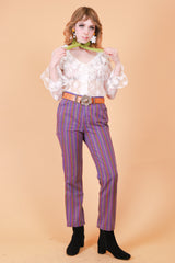 Vintage 1960's Into the Mystic Purple Stripe Pants