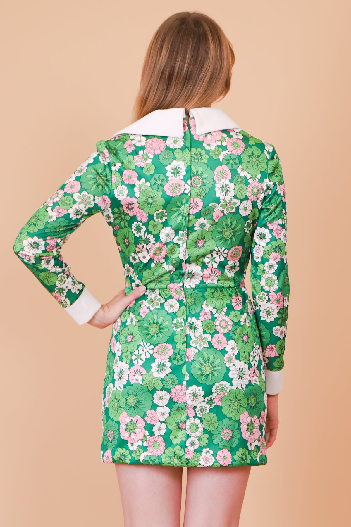 Vintage 1970's Octopus's Garden Floral Mini-Dress