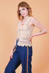 Vintage 1970's Laurel Canyon Knit Top