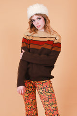 Vintage 1970's All The Leaves Are Brown Sweater