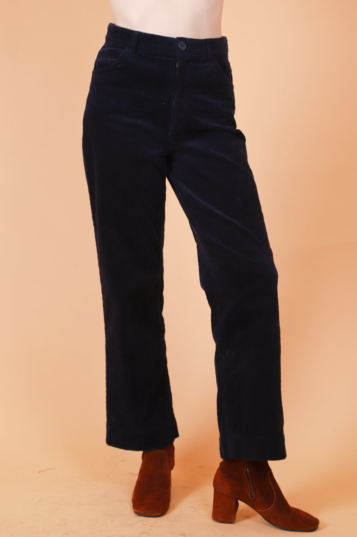 Vintage 1970's Midnight Blues Navy Cords