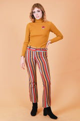 Vintage 1960's She's A Rainbow Stripe Pants