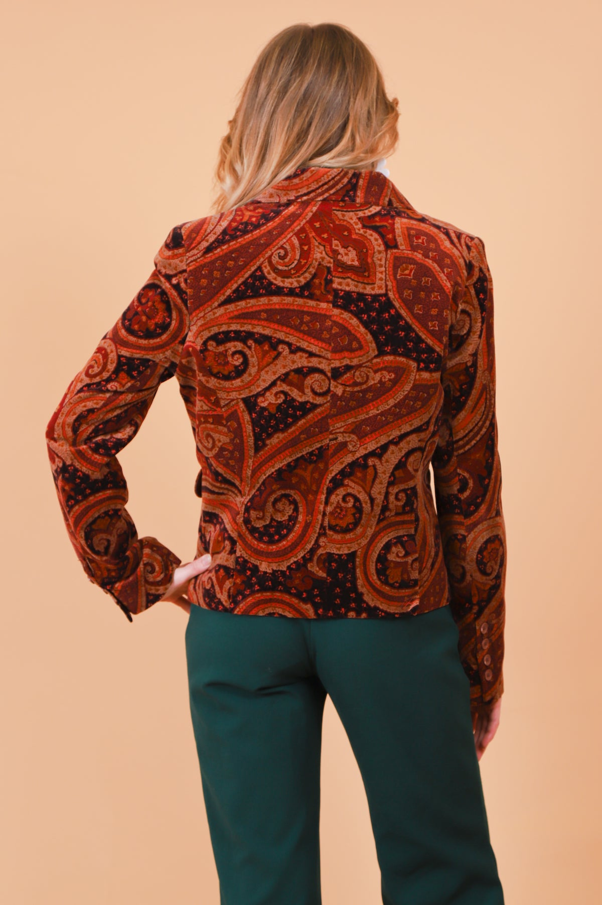 Vintage Paisley Perception Velvet Jacket