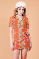 Vintage 1970's Lady Marmalade Mini-Dress