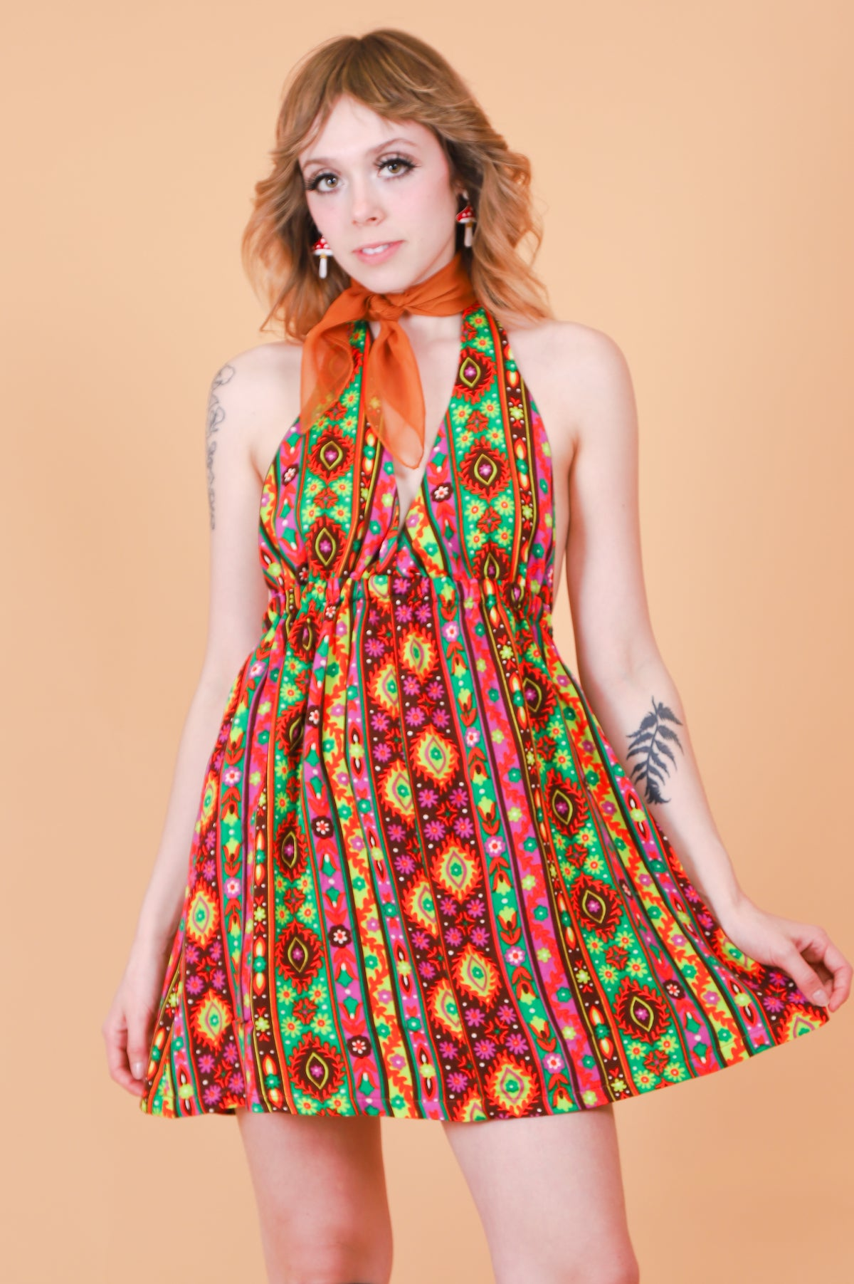Vintage 1970's Summer of Love Mini-Dress