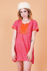 Vintage 1970's Budapest Love Story Tunic Mini-Dress