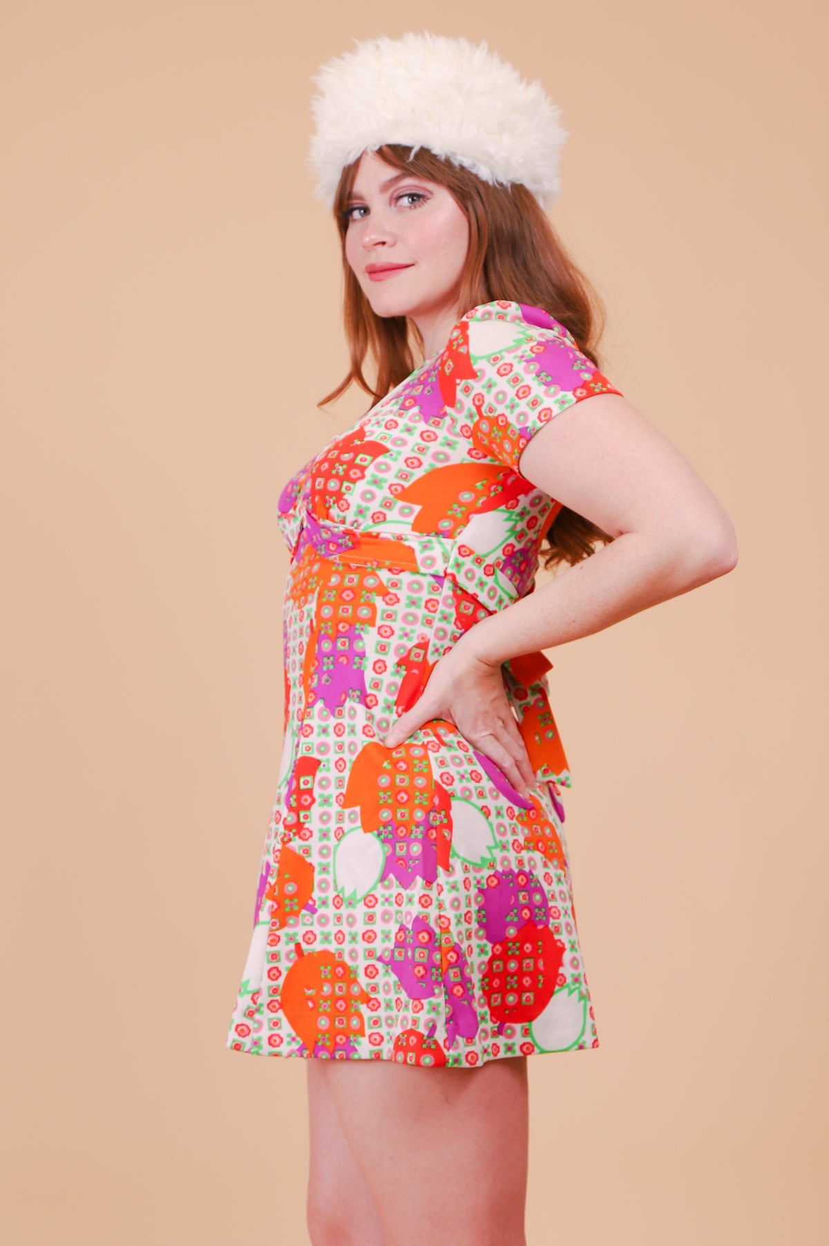 Vintage 1970's Along Comes Mary Mini-Dress