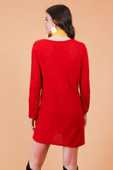 Vintage 1970's Strawberry Fields Knit Mini-Dress