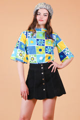 Vintage Flower Power Top
