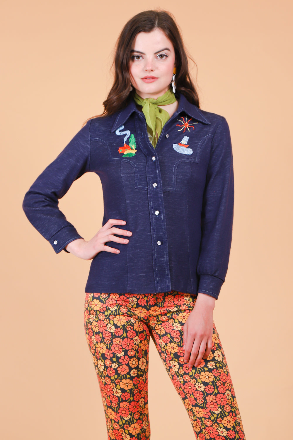 Vintage 1970's Tangled Up In Blue Embroidered Jacket