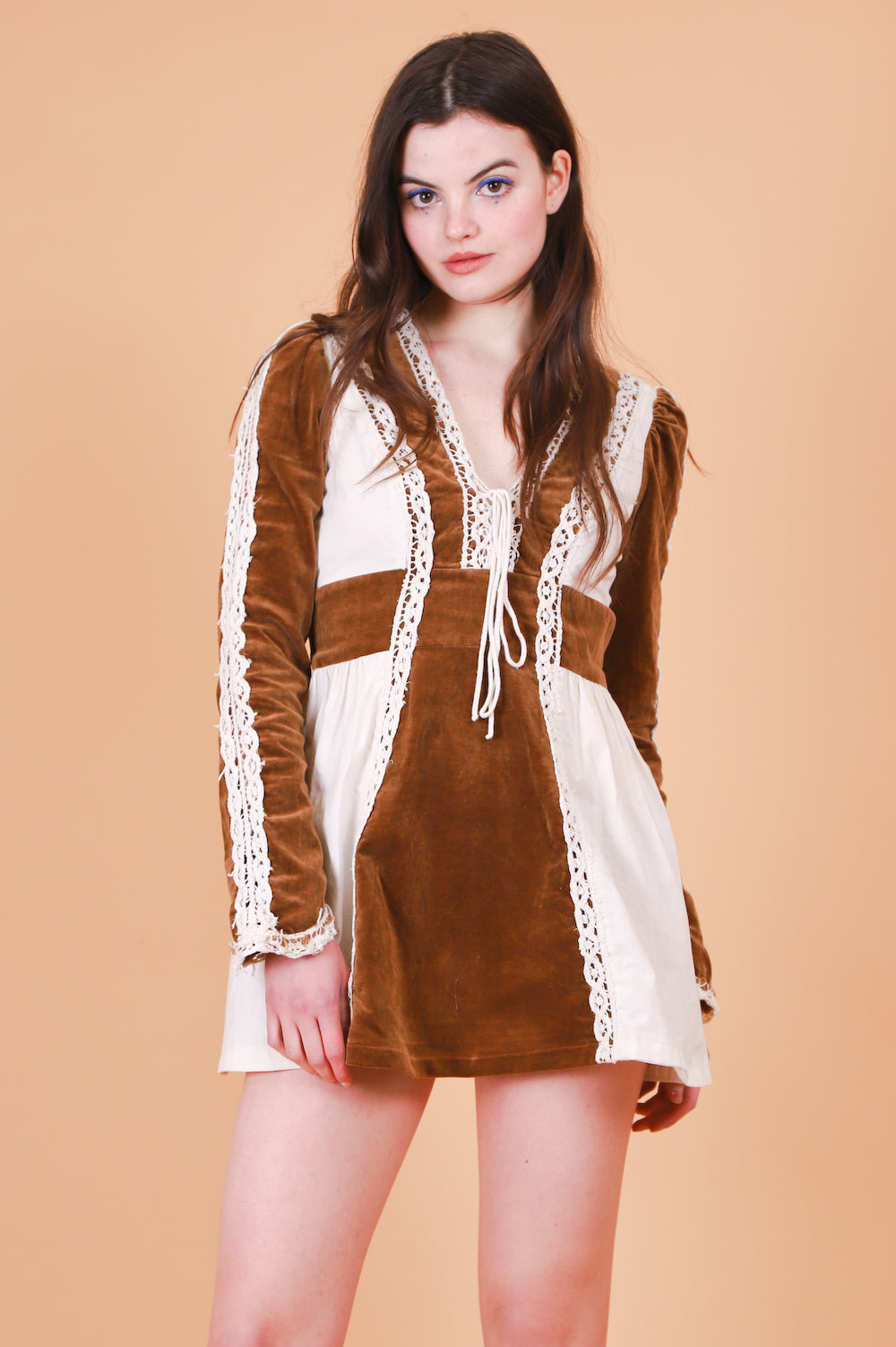 Vintage 1970's Prairie Spring Mini-Dress