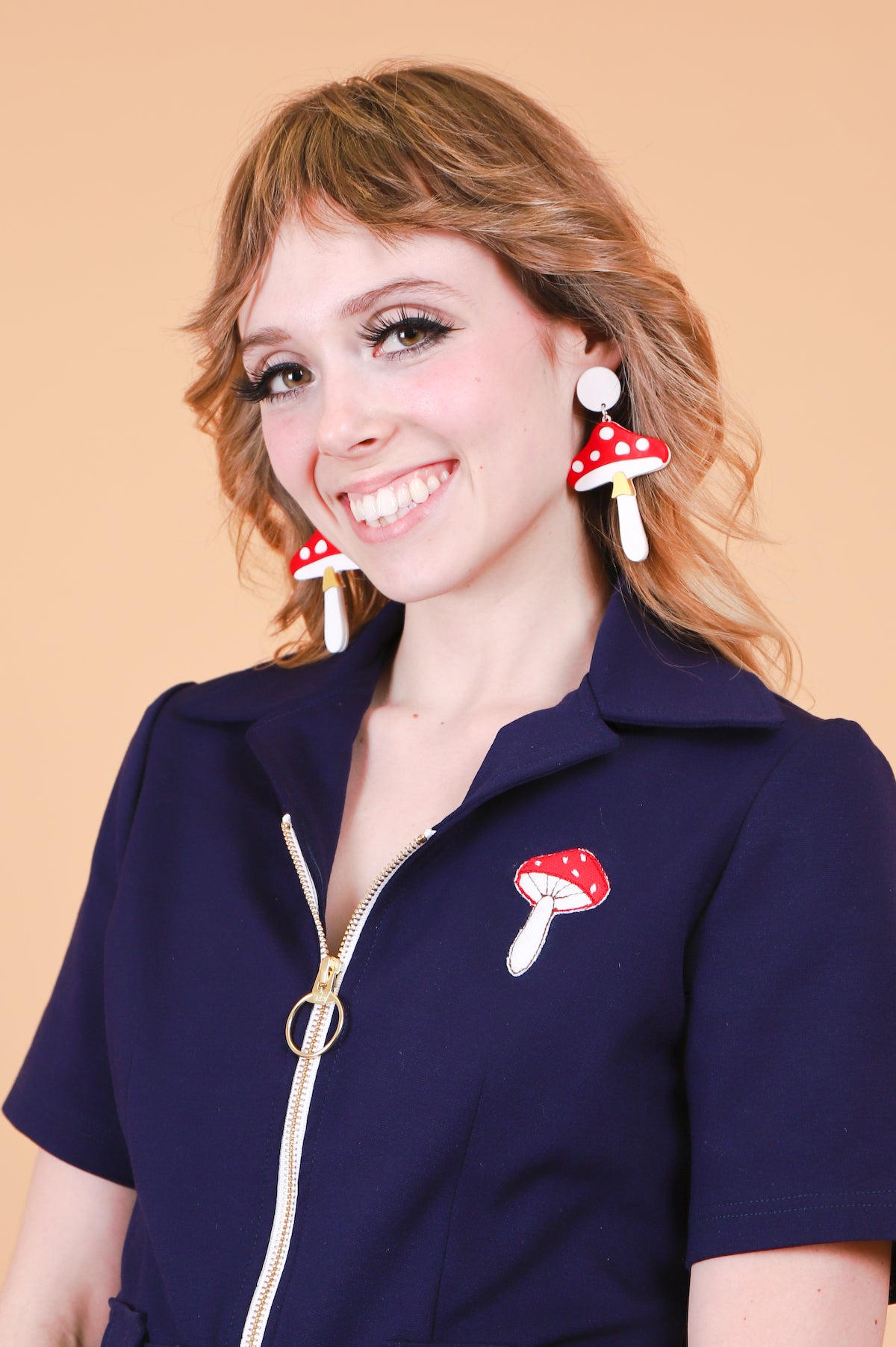 Magic Mushroom Earrings in Full