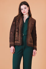Vintage 1970's Spanish Harlem Embroidered Suede Jacket