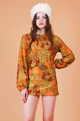 Vintage 1960's Tangerine Dream Mini-Dress