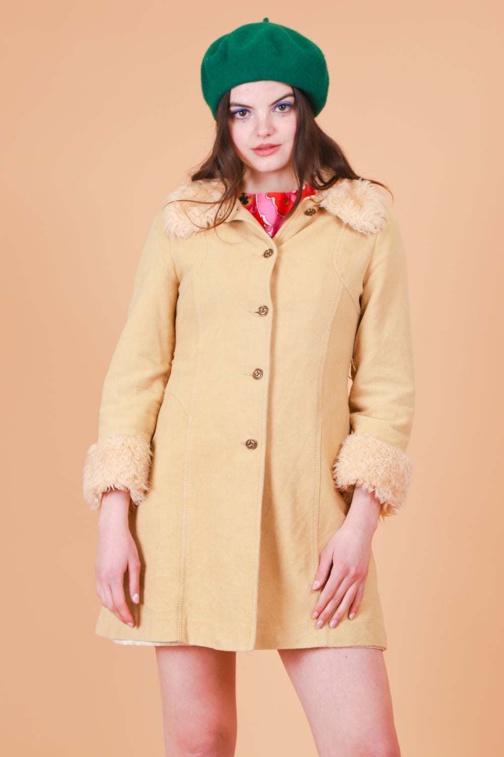 Vintage 1970's Honey Pie Vegan Fur Coat