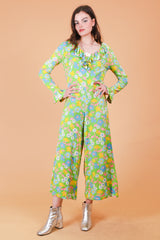 Vintage 1960's Flower Child Jumpsuit
