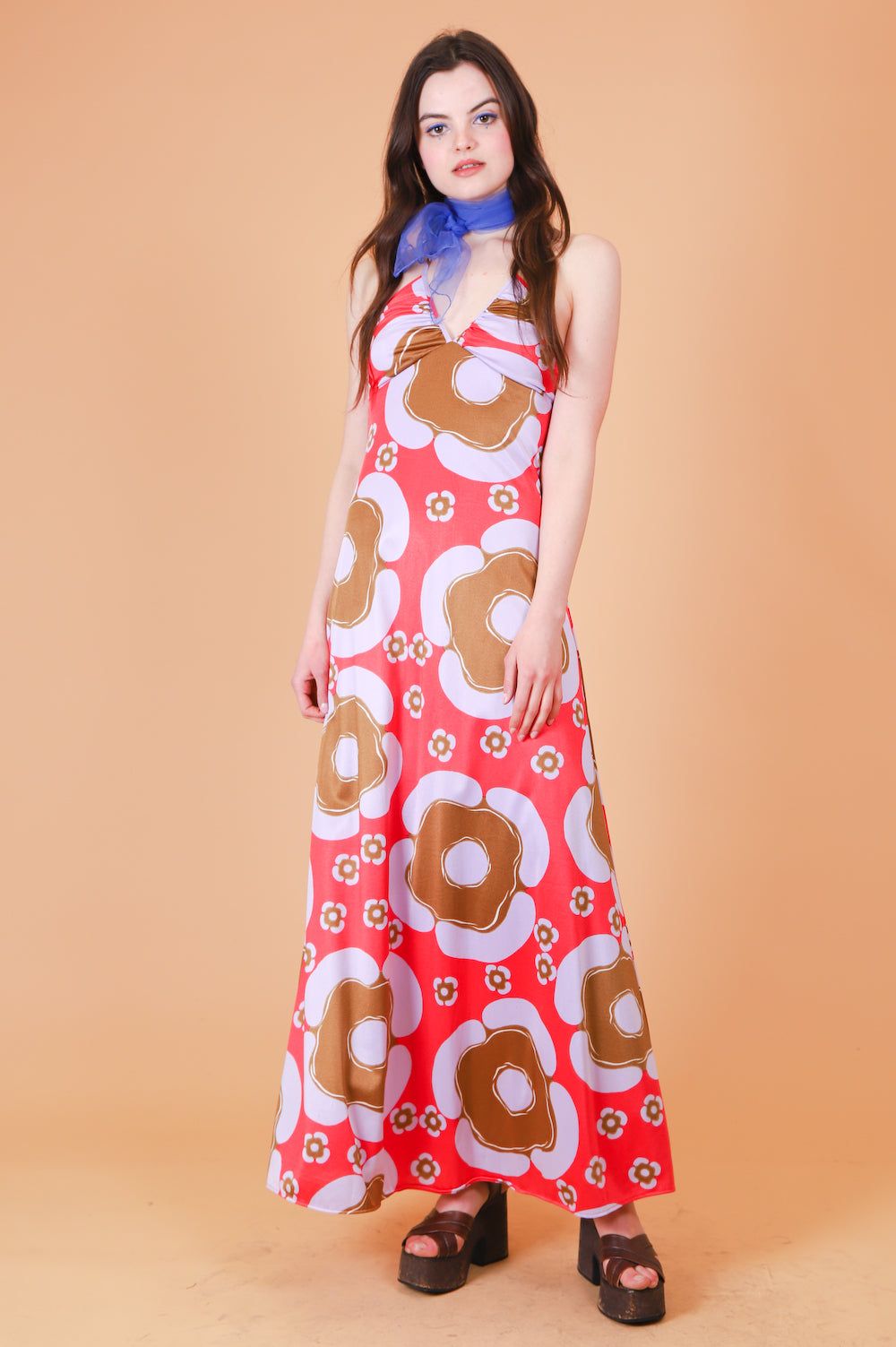 Vintage 1970's Lava Lamp Maxi-Dress