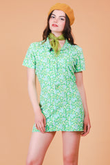 Vintage 1970's Dandelion Greens Mini-Dress
