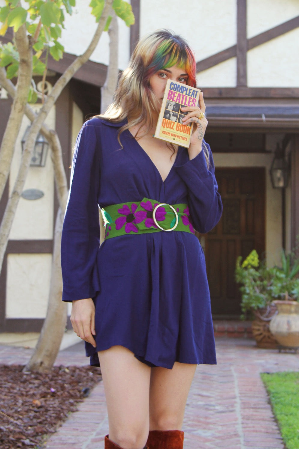 Pattie Boyd Dress in Navy