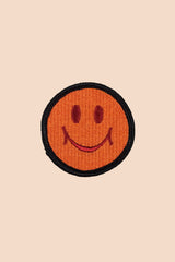 Smiley Patch in Orange