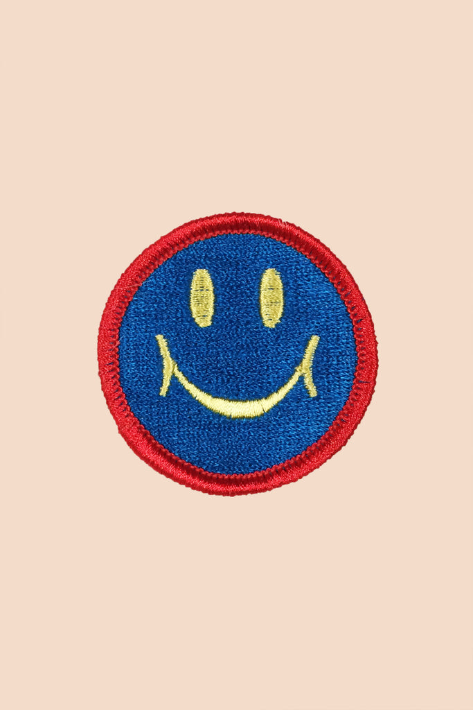 Smiley Patch in Blue