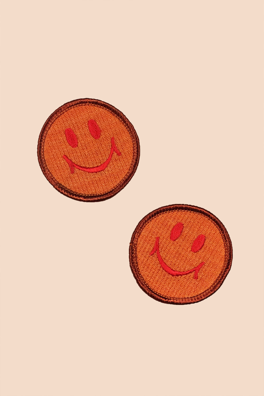 Smiley Patch in Tan