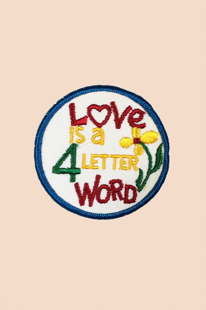 Love is a 4 Letter Word Patch