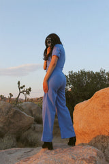 Vintage 1970's Pocketful of Miracles Baby-Blue Jumpsuit