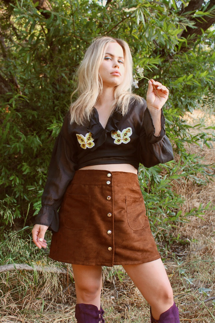 Vintage 1960's Butterfly Frills Top