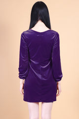 Marianne Faithfull Velvet Dress in Violet