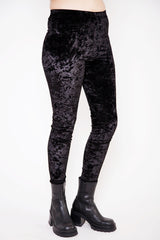 Zola Black Crushed Velvet Leggings