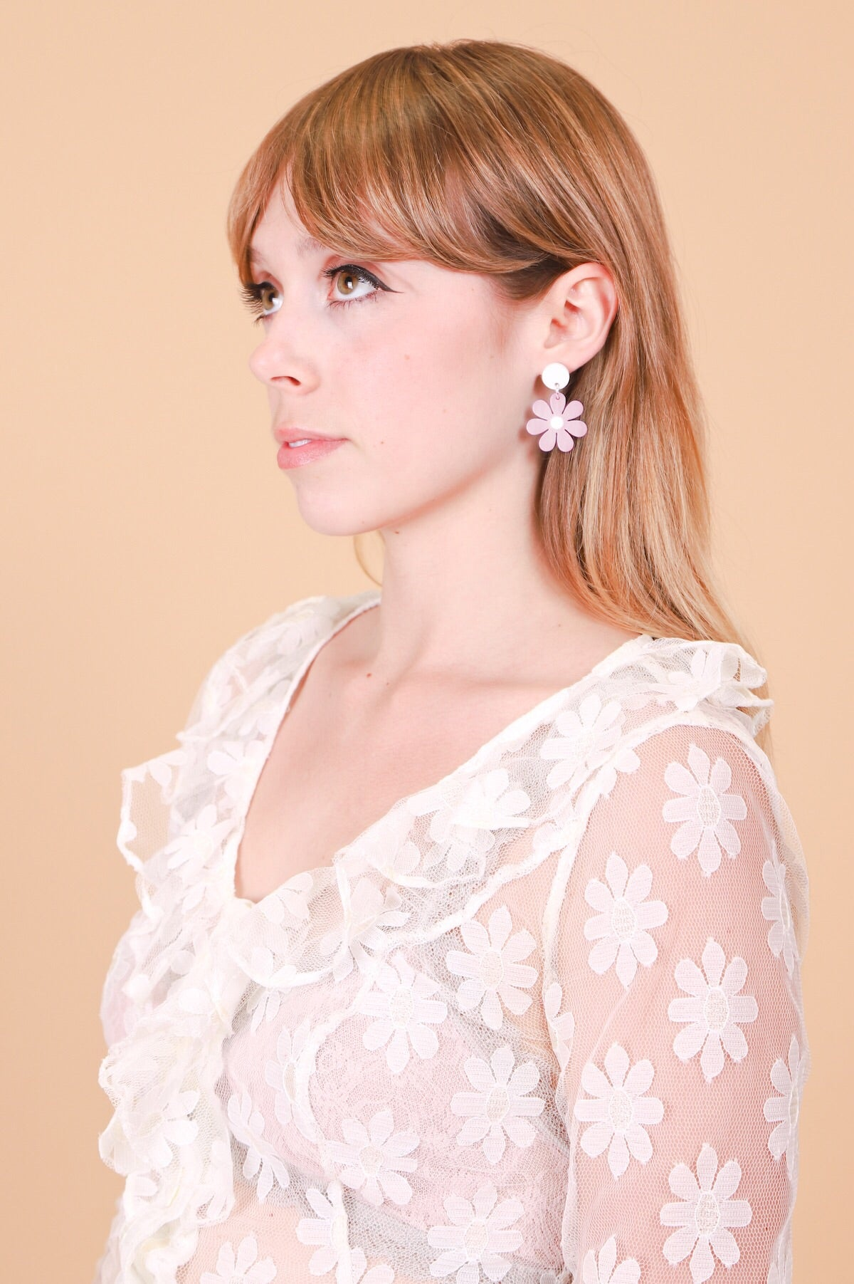 Daisy Earrings in Pink Mini