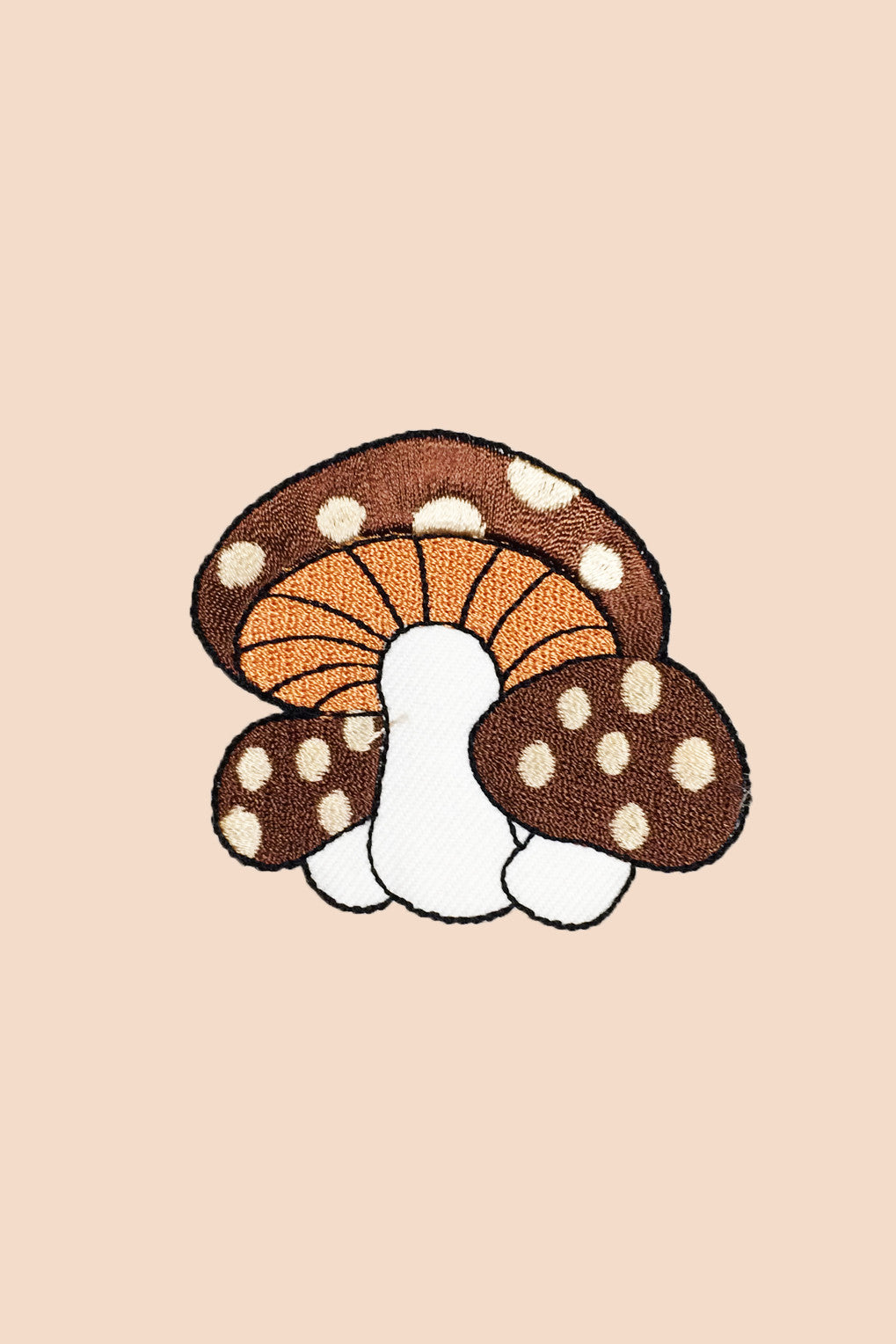 Mushroom Family Patch in Chocolate