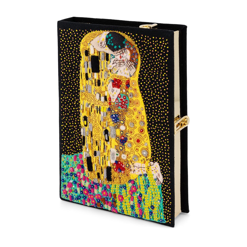 The Kiss Klimt Black Strapped