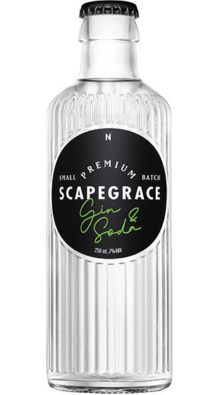 SCAPEGRACE GIN LIME AND SODA RTD BOTTLES 4PK (4X250ML)