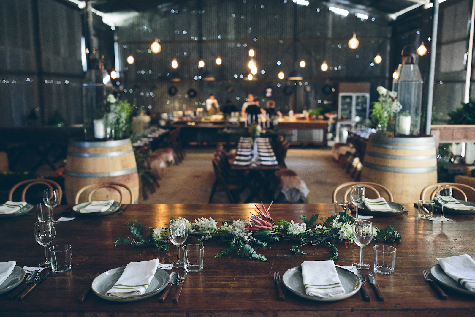 Inside shed table setting - image credit Willow and Co