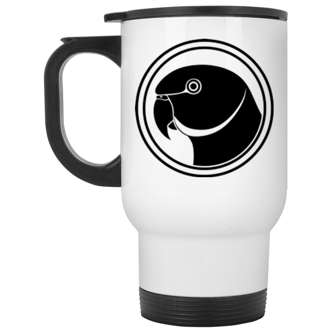 IRN Parrot White Travel Mug