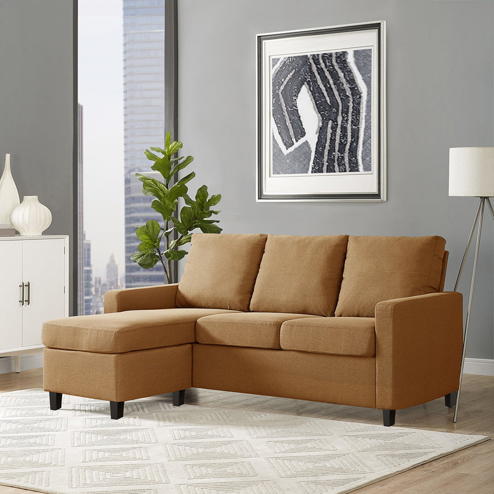 Adorn India Astor Two Seater Sofa (Camel)
