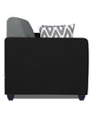 Adorn India Rio Highback 3 Seater Sofa (Black & Grey)