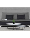 Adorn India Exclusive Two Tone Arden Three Seater Sofa Cum Bed (Light Grey & Black)
