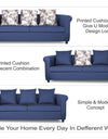 Adorn India Magnum 3-1-1 Sofa Set (Blue)