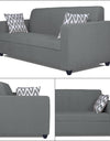 Adorn India Rio Highback 3-1-1 5 Seater Sofa Set (Grey)