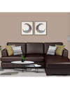 Adorn India Tiverton 5 Seater Corner Sofa Leatherette Right Hand Side (Brown)