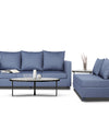 Adorn India Straight Line Modular Sofa set (Dark grey)