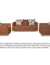 Adorn India Alita 3-1-1 Compact 5 Seater Sofa Set (Rust)