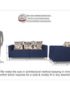 Adorn India Alita 3-1-1 Compact 5 Seater Sofa Set (Blue)