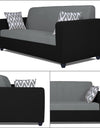 Adorn India Rio Highback 3-1-1 5 Seater Sofa Set (Black & Grey)